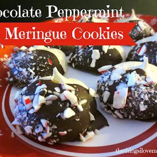 Chocolate Peppermint Meringue Cookies