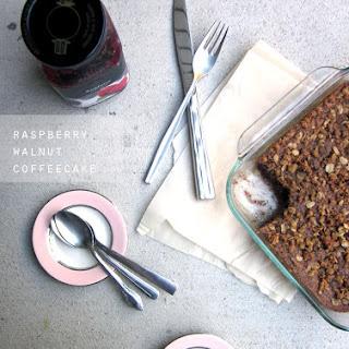 Raspberry Walnut Coffee Cake