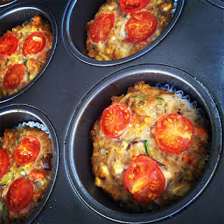 Cheesy Vegetable & Quinoa Protein Individual Frittata / Savoury Muffin.