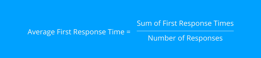 how to calculate first response time FRT