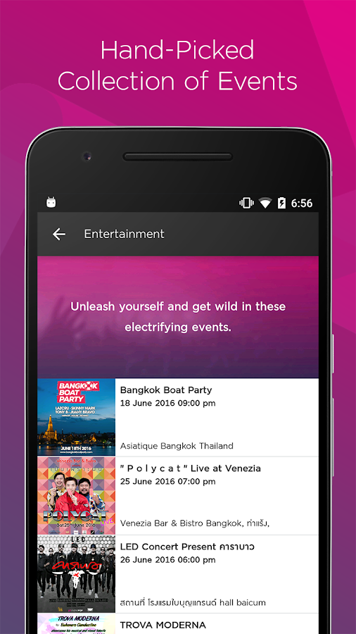 Event Pop- screenshot