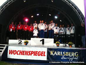 Photo: Podium VR4 Open, Coupe du Monde et Championnats d'Europe 2011, Saarlouis, Or et Or