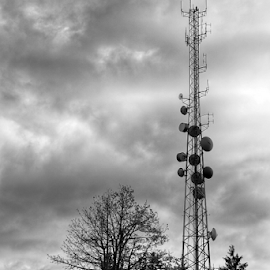 Communication  by Todd Reynolds - Black & White Buildings & Architecture
