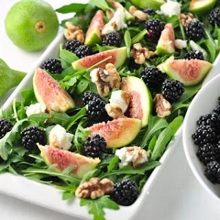Fresh Fig Arugula Salad with Blackberries