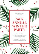 Annual Winter Party - Christmas Card item