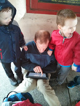 Photo: Joel and the magical IPAD that kept Dexter from noticing that he'd gone swimming with his clothes on.