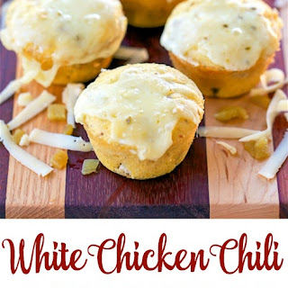 White Chicken Chili Cornbread Muffins