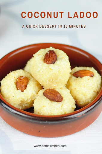 coconut ladoo with condensed milk