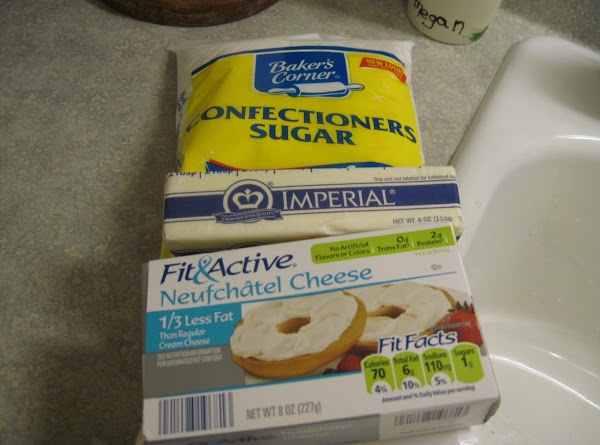 Frosting #1 Soften the margarine (Or butter is what I normally use) and the...