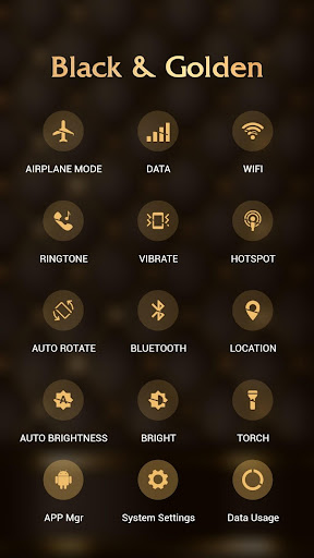 Black golden APUS Launcher theme - screenshot