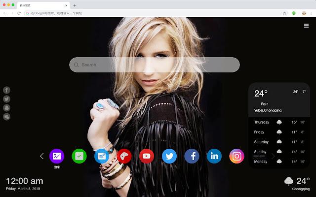 Kesha HD New Tabs Popular Stars Themes