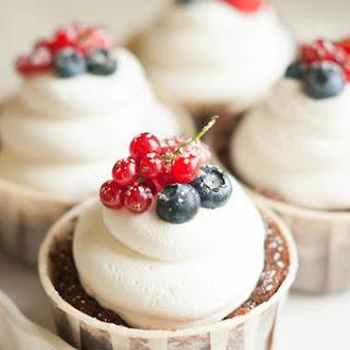 Chocolate Berry Truffle Cream Cakes.
