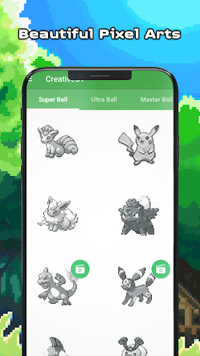 Pokess Color by Number - Sandbox Pixel