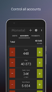 Monetal. Expense tracker - náhled
