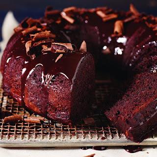 Gluten-free Chocolate-fudge Cake.
