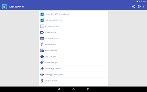 App2SD: All in One Tool [ROOT] 13.4 screenshots 9