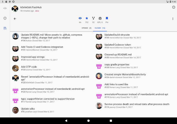 Screenshot 14 for Github's Android app'