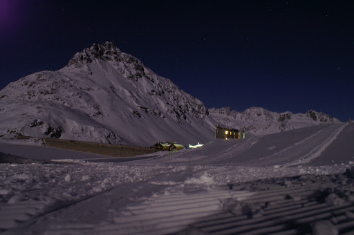 Bielerhöhe at night