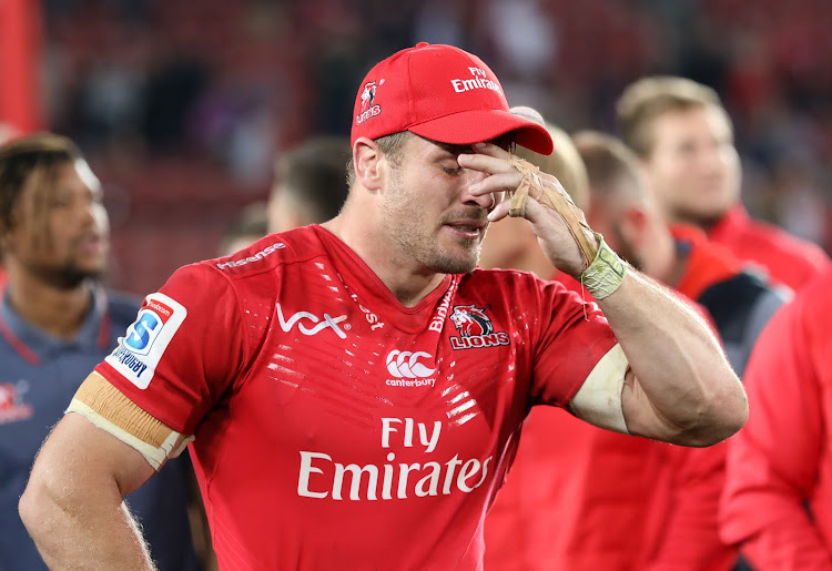 Jaco Kriel in tears during 2017 Super Rugby final match between Lions and Crusaders at Ellis Park Stadium, Johannesburg South Africa on 05 August 2017.