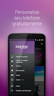 ZEDGE™ Toques, Fundos Mod