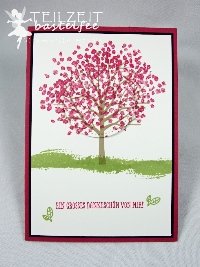 Stampin' Up! – In{k}spire_me, Color Challenge, Baum der Freundschaft, Sheltered Tree, Landlust, Cottage Greetings, Zum Dank, Thankful Thoughts, Stitched Framelits
