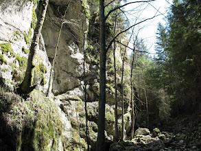 Photo: 13.W kanionie Hučiaky.