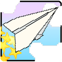 Flying! Paper plane flight icon