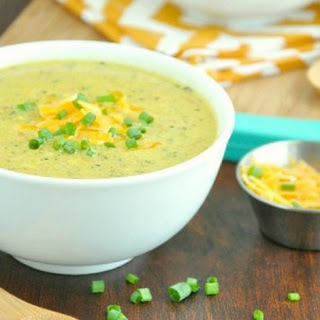 Creamy Curry Broccoli and Cheese Soup.