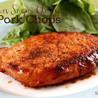 Brown Sugar Glazed Pork Chops.