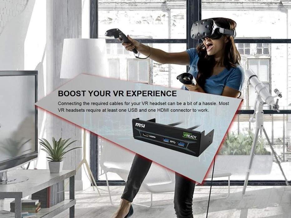MSI ra mắt phụ kiện dành cho thực tế ảo - VR Boost Kit