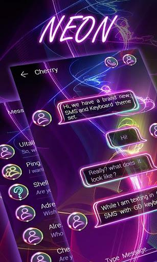 FREE GO SMS NEON THEME