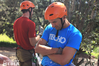 Photo: Getting mentally prepped for ziplining.
