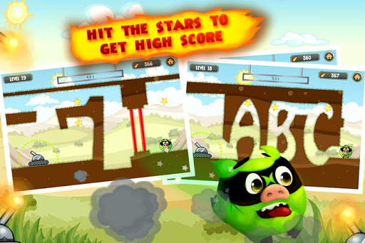 Fire Piggy -- hit the bad pig with bullet & rocket screenshot 2
