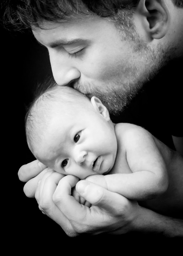 Daddy's Love by Brooke Beauregard - People Family ( love, kiss, daddy, baby, daugher,  )