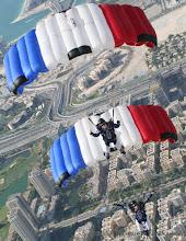 Photo: VC2 France 2 au dessus de Dubaï, vainqueur du 5th DIPC 2014, avec Charline Delay et Cindy Collot