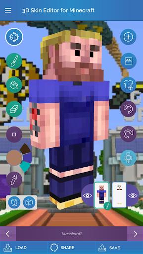QB9's 3D Skin Editor for Minecraft 2.1.0 screenshots 1