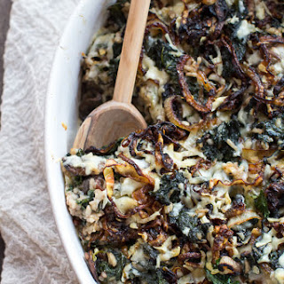 Kale and Wild Rice Casserole.