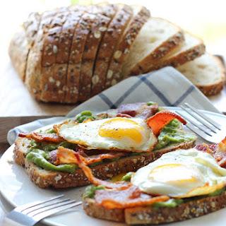 Open-Faced Breakfast Sandwich.