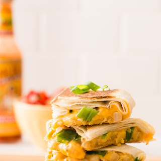 Chickpea and Cheddar Quesadillas.