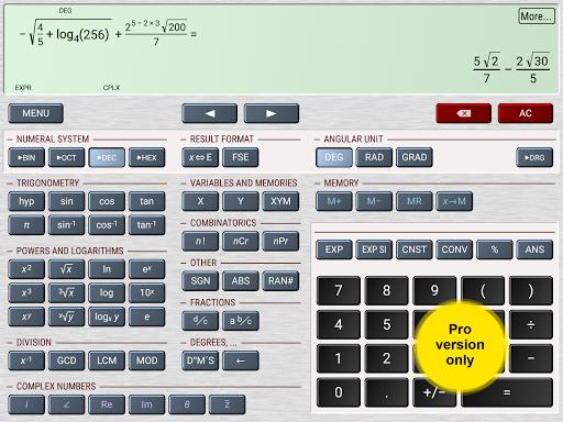 HiPER Scientific Calculator 6.1.1 screenshots 12