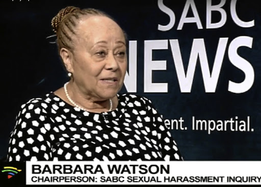 Barbara Watson chaired the inquiry into sexual harassment at the SABC.