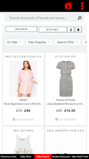 Cheap Clothes Shopping Outlets screenshot