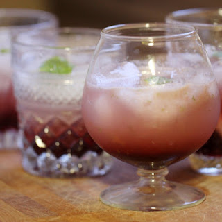 Easy Cranberry-Pomegranate Lime Cocktail