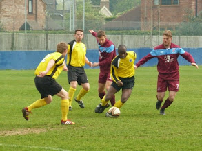 Photo: 21/04/14 v Stony Stratford Town (Spartan South Midlands League Division One played at Barton Rovers FC) 3-1 - contributed by Bob Davies