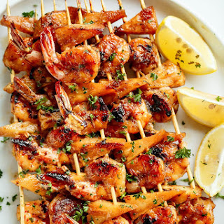 Honey Garlic Butter Shrimp Pineapple Skewers Recipe