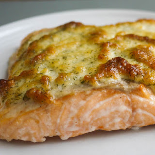 Roasted Salmon with Parmesan Dill Crust.
