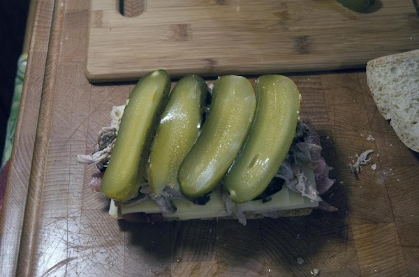 Add the dill pickles.