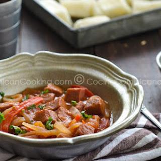 "Salami Guisado Recipe (Dominican ""Salami"" Hotpot)"