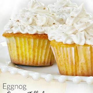 Eggnog Cream Filled Cupcakes