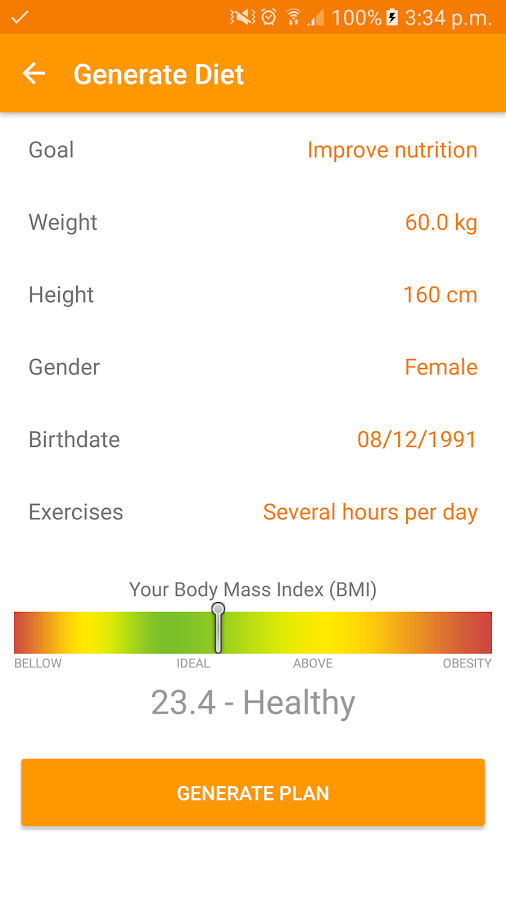 Diet and Fitness-Technutri- screenshot